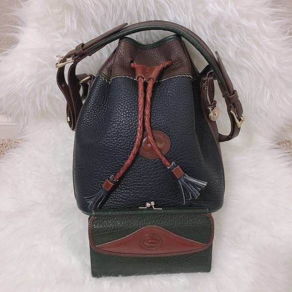 Dooney & Bourke Handbags - Vintage Dooney Bag & Wallet Bundle Set